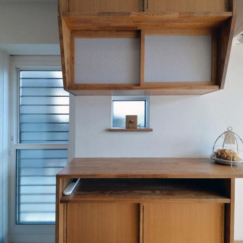 杉と漆喰のパッシブデザインハウス 収納