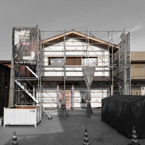 【建築途中】城下町の家