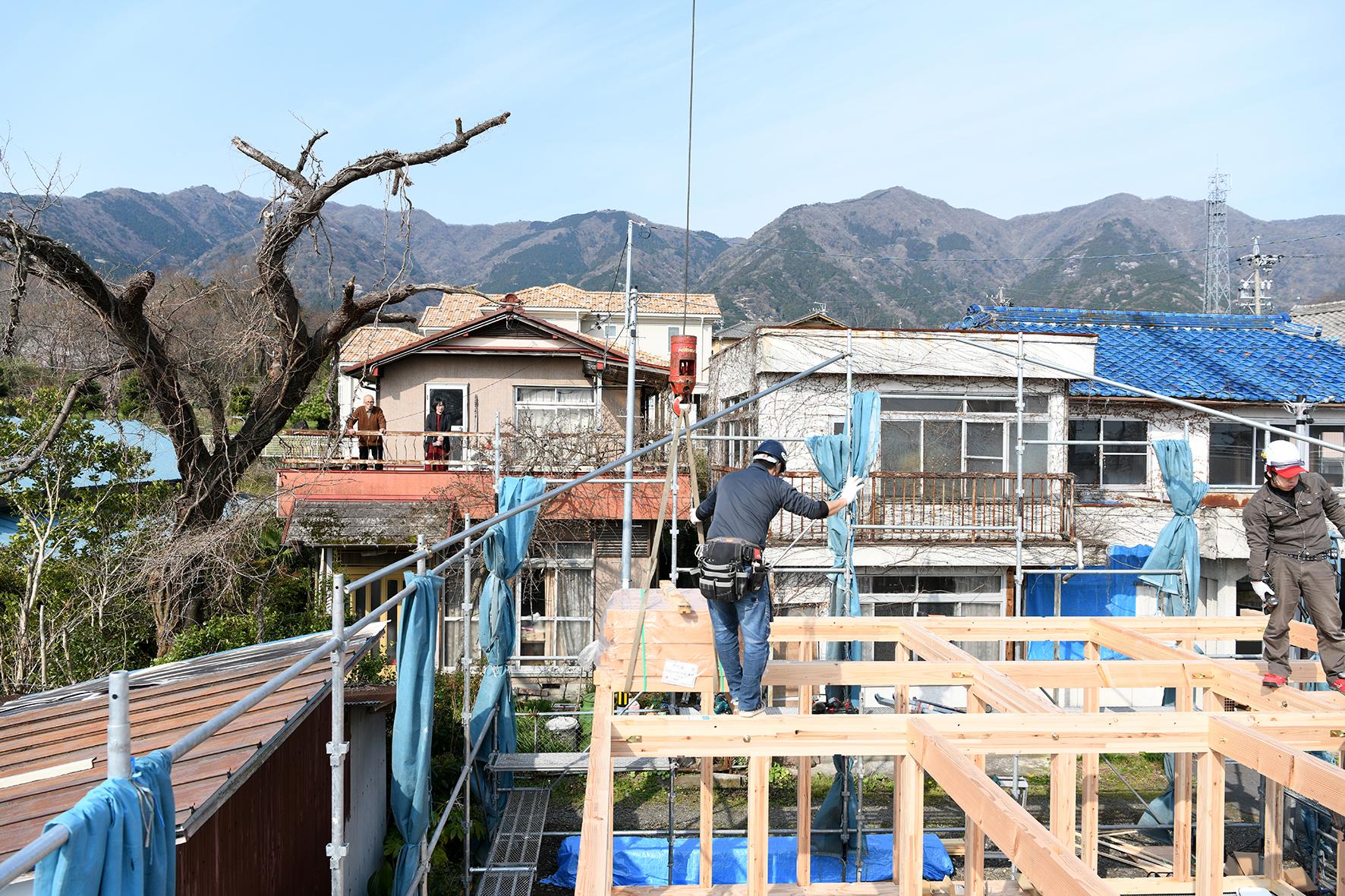 上棟 木造住宅