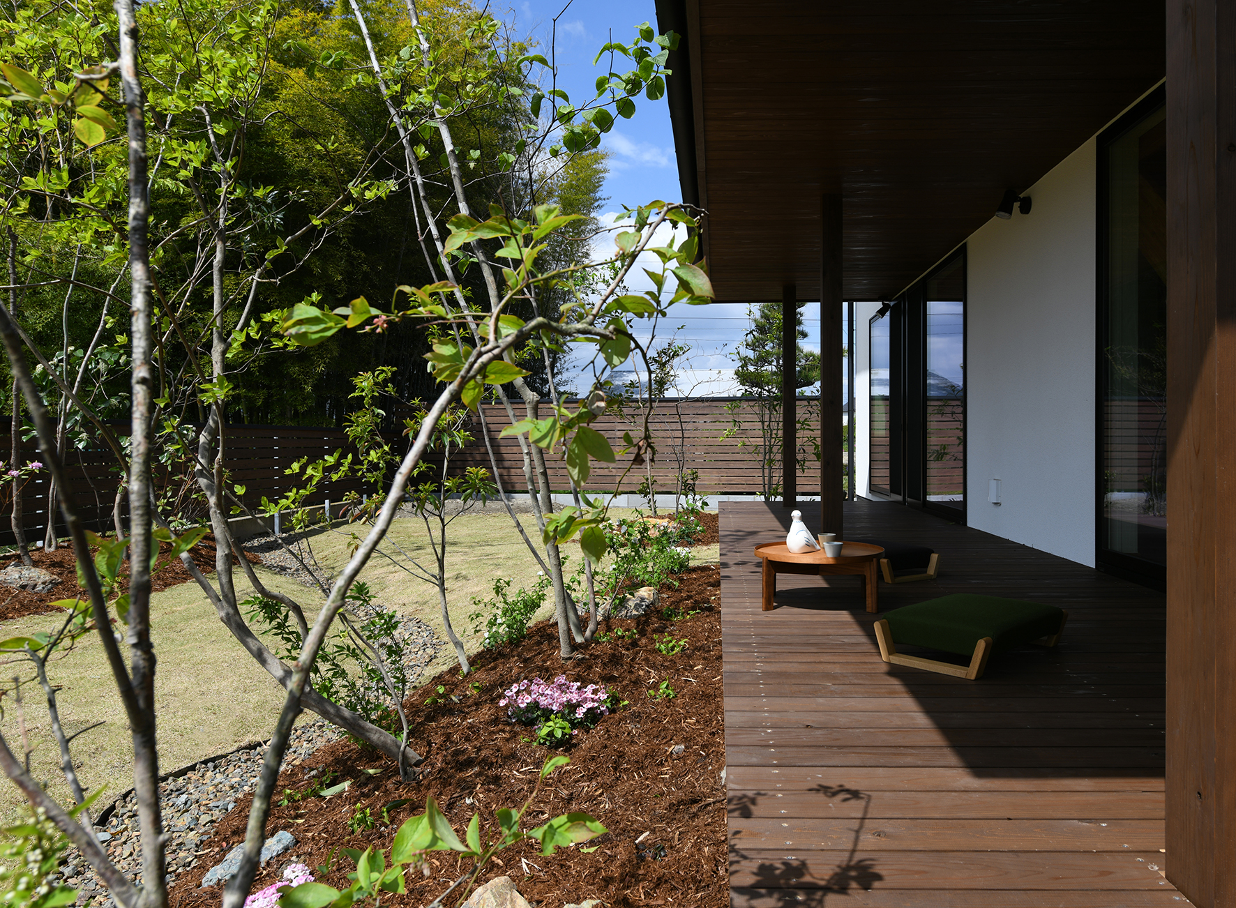 庭とデッキと暮らし