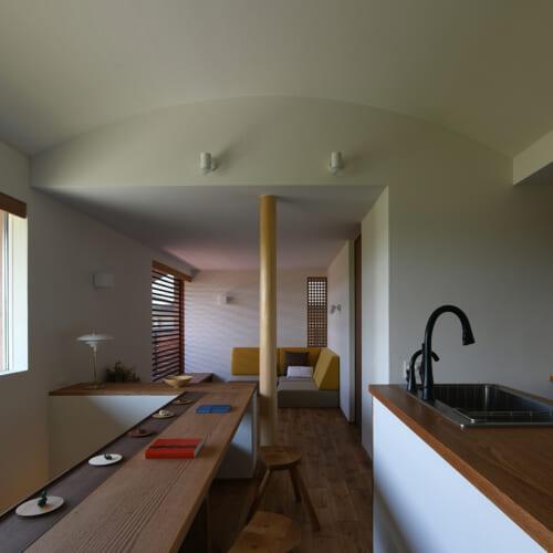R天井 手作りキッチン