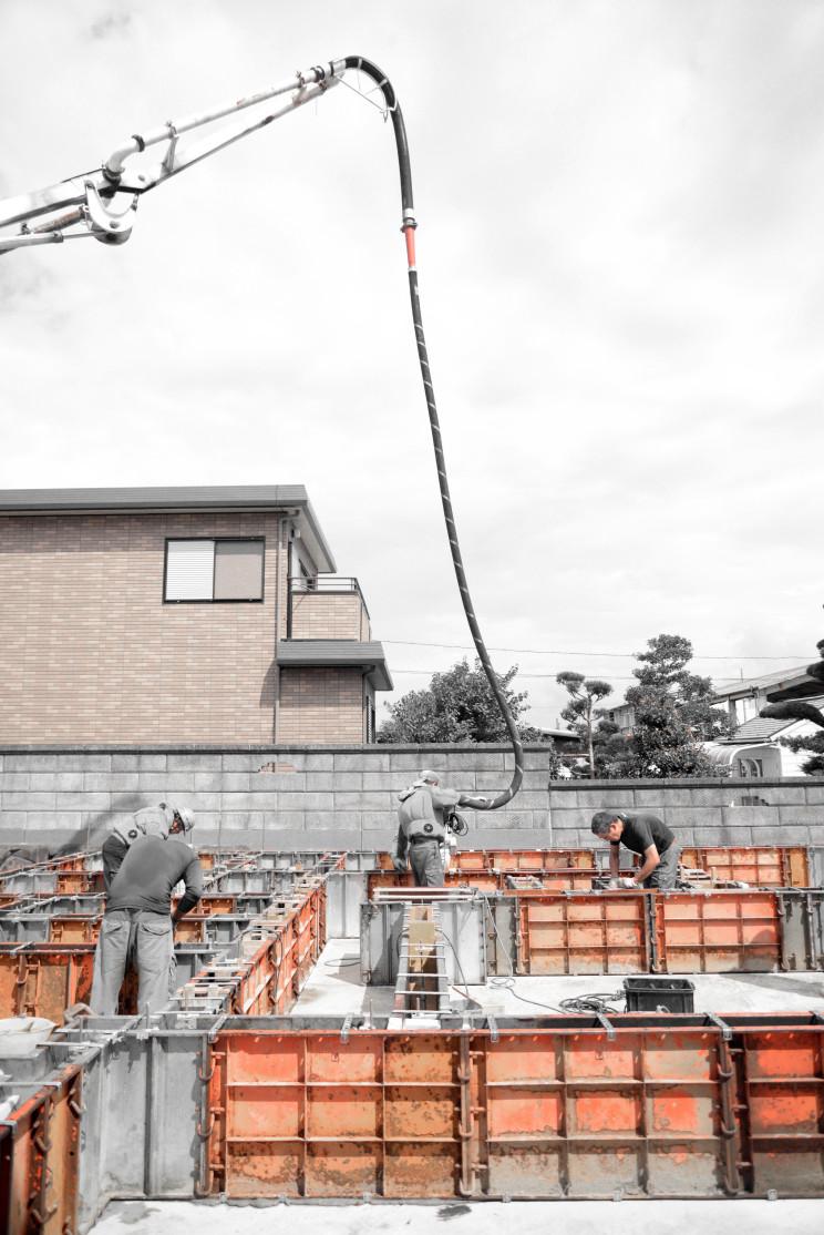 基礎コンクリート打設工事